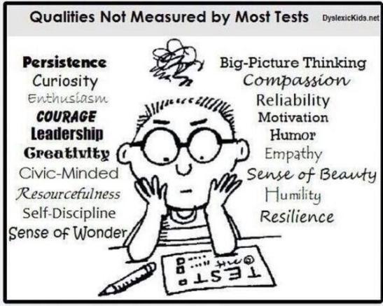 Essential Qualities Not Easily Measured by Tests