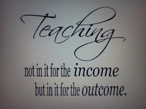 teaching not for income ...