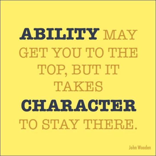 Character Is Essential