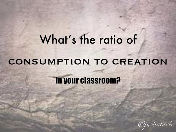 consumption to creation