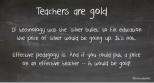 teachers are gold